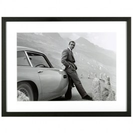 Obraz z filmu JAMES BOND z Sean Connery - ASTON MARTIN